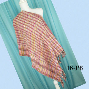 Collection 18 Wine Runway Plaid Wrap 27X72